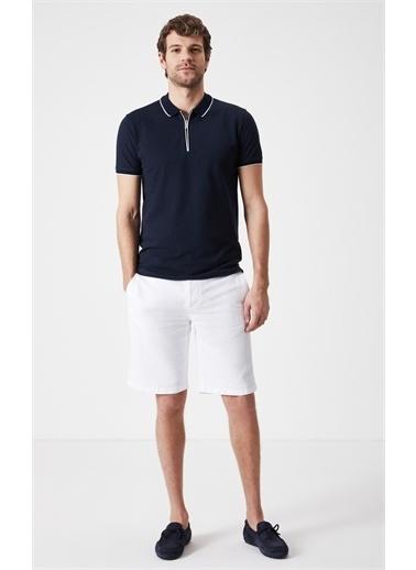 Boris Becker Fermuarlı Polo Yaka T-shirt Lacivert